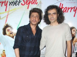 Bollywood actor Shah Rukh Khan and filmmaker Imtiaz Ali spotted during Jab Harry Met Sejal mini trailer launch.