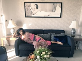 Actress Mallika Sherawat, who is on a family trip to France, got a chance to reside at the popular suite dedicated to late Hollywood actress Elizabeth Taylor here.