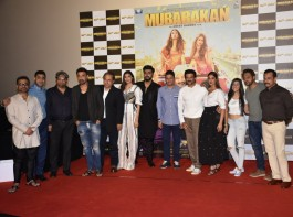 The much-awaited trailer of Anees Bazmee's directorial 'Mubarakan'' has been released and promises entertainment at it's best. The team of Mubarakan, Anees Bazmee, Anil Kapoor, Anil Kapoor, Ileana D'cruz and Athiya Shetty, were welcomed by pomp and pride through an unconventional entry with 'Band Baaja' as they danced their way into the launch showing some bhangra moves.