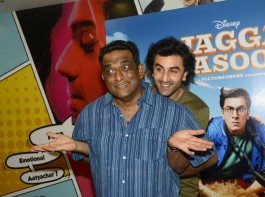 Bollywood actor Ranbir Kapoor and filmmaker Anurag Basu promote Jagaa Jasoos movie in Mumbai.