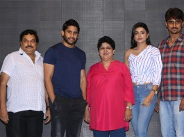 Telugu movie Vaishakham press meet held at Hyderabad. Celebs like Naga Chaitanya, Harish, Avanthika Mishra, Jaya B, BA Raju, Venkata Subba Rao, Bhadram at the event.