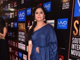 Malayalam Actress Asha Sarath at SIIMA Awards 2017.