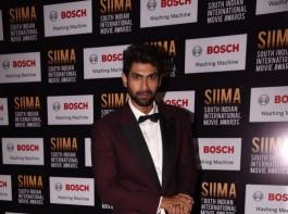 Rana Daggubati spotted at SIIMA Awards 2017.