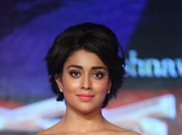 South Indian Actress Shriya Saran at Nakshatram audio launch.
