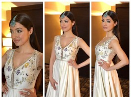 Bollywood actress Divya Khosla Kumar wows in an Anju Modi creation for IIFA ROCKS!