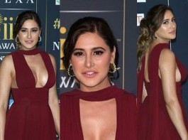 Bollywood actress Nargis Fakhri flaunts her curves at IIFA Awards 2017.