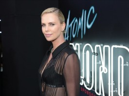 American actress Charlize Theron looks smoking hot in Atomic Blonde premiere.