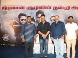 Tamil movie Nibunan success meet held at Chennai. Celebs like Actor Arjun Sarja, Director Arun Vaidyanathan and others graced the event.