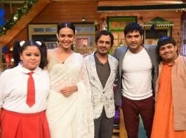 The Cast of The Kapil Sharma Show with Babumoshai Bandookbaaz.