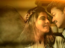 Actor Vijay and Samanthaimages from Neethanae Song Teaser from Mersal movie.