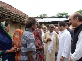Congress Vice-President Rahul Gandhi on Saturday met some bereaved families of children who died at the Baba Raghav Das (BRD) Medical College last week and expressed his sympathies. Extending his condolences, he told the families that the Congress party was with them in this hour of crisis.