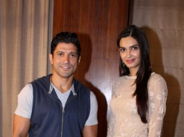 Actors Farhan Akhtar and Diana Penty during the promotion of their upcoming film
