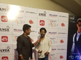 SJ Suryah at Spyder audio launch.