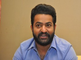 Junior NTR during a pressmeet of his upcoming film