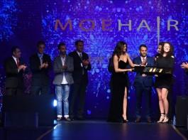 "Bollywood actress Sushmita Sen launches hair care brand ""MOEHAIR""."