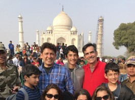 Madhuri Dixit-Nene visited Taj Mahal with her family. The actress says her