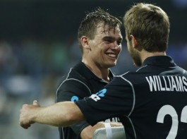 New Zealand rode on brilliant knocks from Tom Latham and Ross Taylor to a comprehensive six-wicket victory over India in the first One-Day International (ODI) at the Wankhede Stadium here on Sunday. The duo contributed a 200-run stand for the fourth wicket as the visitors overtook India's total of 280/8 with six balls to spare. This is the highest successful run-chase at the Wankhede. New Zealand have taken a 1-0 lead in the three-match ODI series. Latham, who remained unbeaten on 103, smashed the opposition bowlers all over the park to notch up eight boundaries and two sixes in his 102-ball innings. Taylor (95) used his experience from the other end to keep the scoreboard ticking, punishing the loose deliveries.