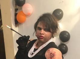 South Indian actress Vidyu Raman's Halloween costume.