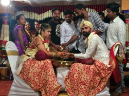 The marriage of actor Yogesh and Sahitya was a private affair and it was attended by the couple family members and close friends.