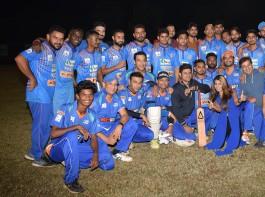 Team Boxy Boyz Celebrity XI at a cricket match between Boxy Boyz Celebrity XI & Specially Abled India XI at Goregon Sports Club.