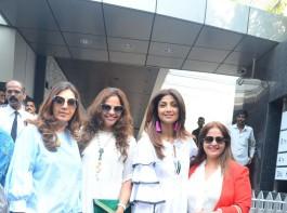 Actress Shilpa Shetty spotted at Kiran Bawa birthday lunch party in Bandra.