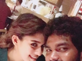 South Indian actress Nayanthara celebrates her birthday with Vignesh Shivan.