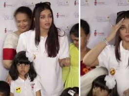 Bollywood Actress Aishwarya Rai Bachchan breaks down and cry in Public.