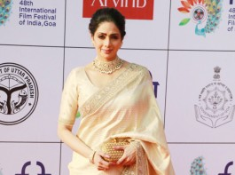 Sridevi at opening ceremony of IFFI 2017.