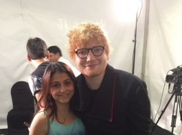 The eye-catching dupion silk blue Kurta was designed and gifted to Ed Sheeran by Farzana Cama Balpande, who runs BookMyShow's charity initiative BookASmile. The kurta wasn't even originally a part of his performance wardrobe and was gifted to the ginger haired singer less than couple of hours before he took the stage. The sheerios instantly fell in love with the 'Shape of You' star in his Indian attire.