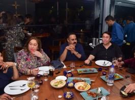 Randhir Kapoor with sister Rima Jain at Izaya.