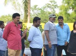 Director Pavan Mallela, Samantha Akkineni at Balakrishnudu shooting spot.