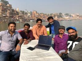 Power Star Pawan Kalyan, Trivikram Srinivas launch Agnatha Vaasi first look from Varanasi!