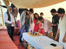 Powerstar Pawan Kalyan and Agnathavasi team celebrates Choreographer Shobi Paulraj's birthday.