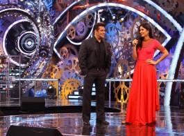 Salman Khan and Katrina Kaif together in Bigg Boss 11.