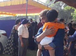 Thala Ajith spotted at Aathvik school event.
