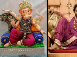 Prabhas' Ganpati sculpture from Baahubali: This year Ganesh Chaturthi saw a different enthusiasm all over as we saw an increasing number of Ganesh statues sculpted as Bahubali's famous pose.
