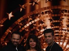 Actress Priyanka Chopra on the first episode of Karan Johar and Rohit Shetty's India's Next Superstar.