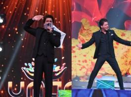 Shah Rukh Khan attends the 'Umang Mumbai Police Show 2018' at Bandra Kurla Complex in Mumbai.