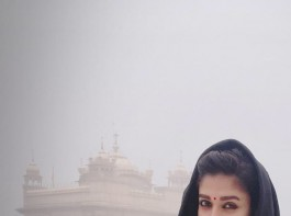 South Indian actress Nayanthara recently spotted at the world famous Golden Temple at Amritsar.