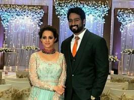 Bhavana-Naveen wedding reception held in Bangalore.