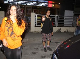 Janhvi Kapoor with Ishaan Khattar spotted at PVR in Juhu.