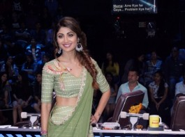 Actress Shilpa Shetty Kundra on sets of dance reality show