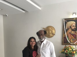 South Indian actress Vidyu Raman meets Superstar Rajinikanth in Chennai.