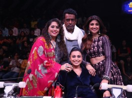 Rani Mukherjee with Super judges on Super Dancer Chapter 2.