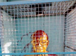Red paint was found splashed across the Ambedkar statue in Tamil Nadu's Thiruvotriyur.