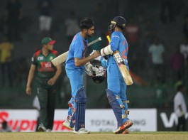 India restricted Bangladesh to 139/8 and then chased down the target with six wickets and 1.2 overs to spare to make a strong comeback after the loss to Sri Lanka in the opening match.
