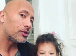 Actor Dwayne Johnson is teaching his two-year-old daughter the value of girl power, after she faced a health scare.