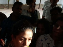 Cricketer Mohammed Shami's wife Hasin Jahan, wife of cricketer Mohammed Shami talks to press in Kolkata on March 9, 2018.