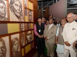 President Ram Nath Kovind during his visit to the Aapravasi Ghat World Heritage Site in Port Louis, Mauritius on March 12, 2018.