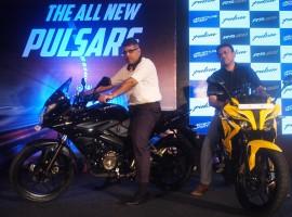 Bajaj Auto President (Motorcycles Business) Eric Vas at the launch of new age Pulsar range in Kolkata.